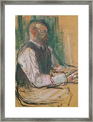 Professor Robert Wurz  Framed Print by Henri De Toulouse-Lautrec
