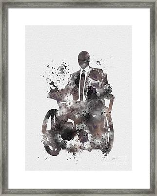 Professor X Framed Print by Rebecca Jenkins