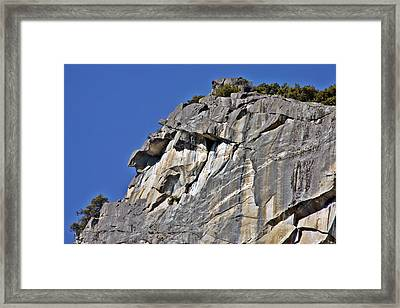 Profile In Granite Framed Print by Duncan Pearson