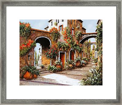 Profumi Di Paese Framed Print by Guido Borelli