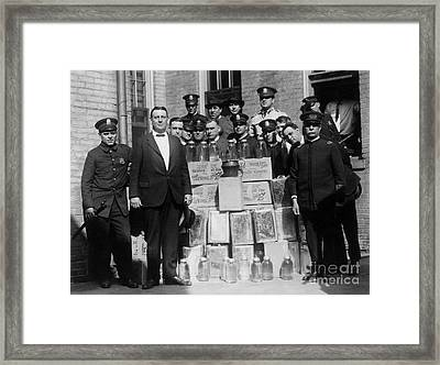 Prohibition Bust Framed Print by Jon Neidert