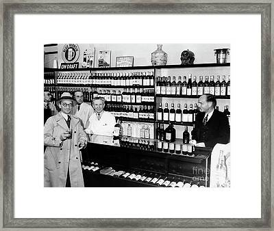 Prohibition Drug Store Framed Print by Jon Neidert