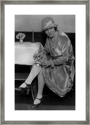 Prohibition, Miss Rhea Seated Framed Print by Everett