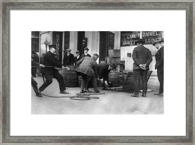 Prohibition, Prohibition Officers Framed Print by Everett