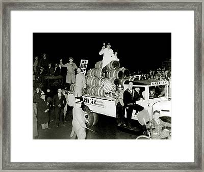 Prohibition Protest Framed Print by Jon Neidert