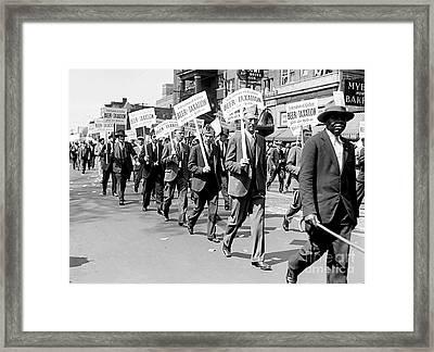 Prohibition Protest March Framed Print by Jon Neidert