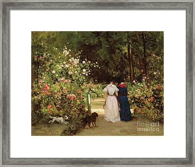 Promenade Framed Print by Constant-Emile Troyon