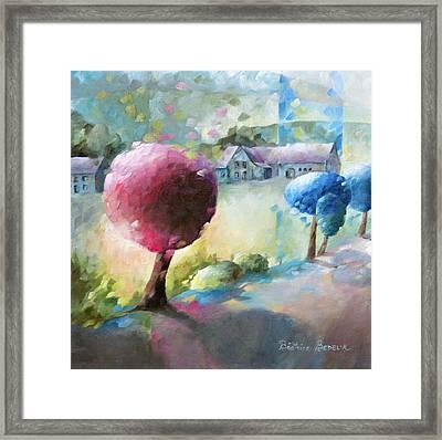 Promenade Sur Le Chemin Framed Print by Beatrice BEDEUR
