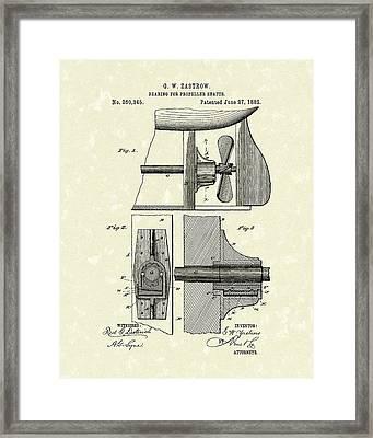 Propeller Shaft Bearing 1882 Patent Art Framed Print by Prior Art Design