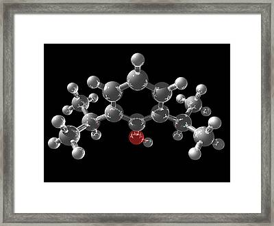 Propofol Molecule Framed Print by Laguna Design