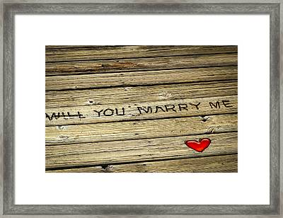 Marriage Proposal Framed Print featuring the photograph Propose To Me by Carolyn Marshall