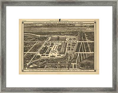 Proposed Site For World's Fair In 1883 Framed Print by Celestial Images
