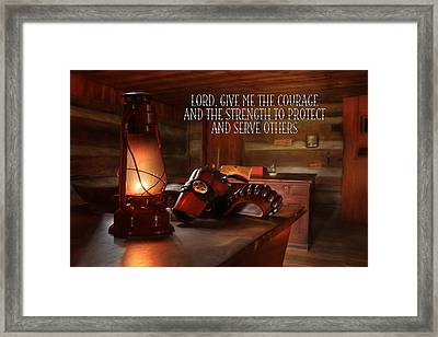 Protect And Serve Framed Print by Lori Deiter
