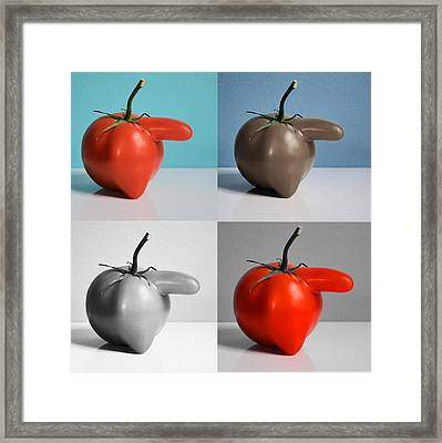 Protrusive Framed Print by Tom Druin