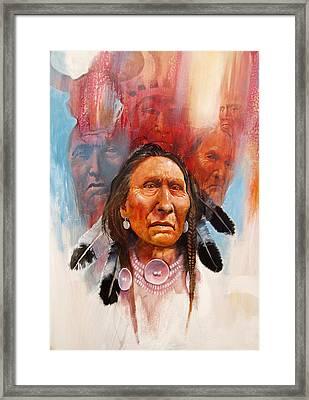 Proud Warrior Framed Print by Robert Carver