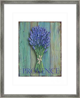 Provence Sign Framed Print by Danielle Perry