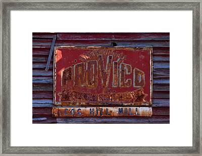 Provico Framed Print by Pat Turner