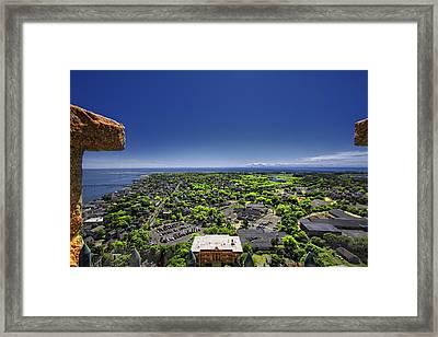 Provincetown Panoramic Aerial Framed Print by Dapixara Art