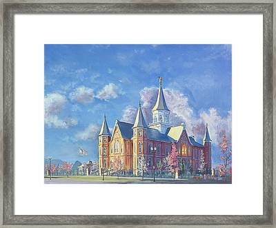 Provo City Center Temple Framed Print by Jeff Brimley