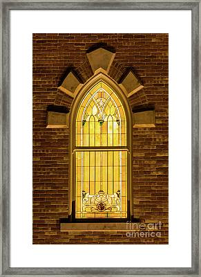 Provo City Center Temple Stainglass Window - Utah Framed Print by Gary Whitton