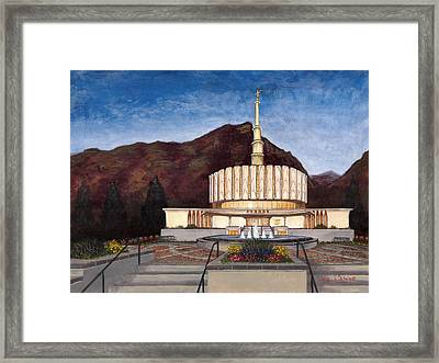 Provo Temple Framed Print by Jeff Brimley