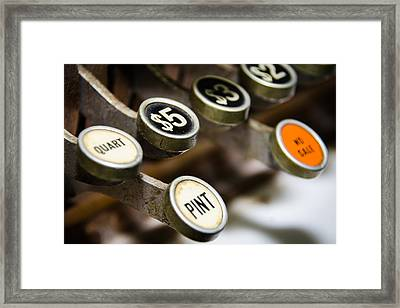 Ps And Qs Framed Print by Joshua Spiegler