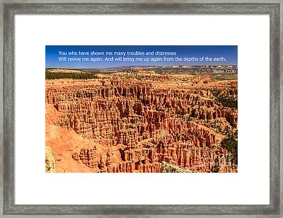 Psalm 71 Framed Print by Robert Bales
