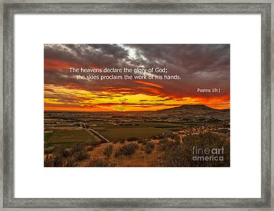 Psalms Framed Print by Robert Bales