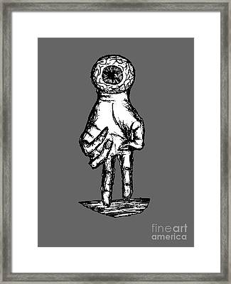 Psychedelic Images Hand Eye Coordination Framed Print by Paul Telling