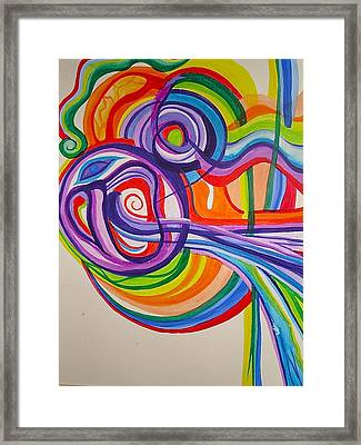 Psychedelic Mask Framed Print by Erika Swartzkopf