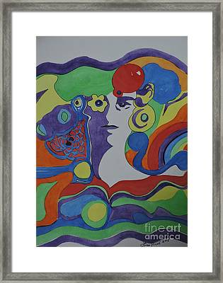 Psychedelic Sixties Framed Print by Lise PICHE