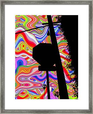 Psychedelic Sky Framed Print by Phill Petrovic