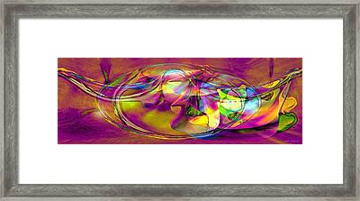 Psychedelic Sun Framed Print by Linda Sannuti