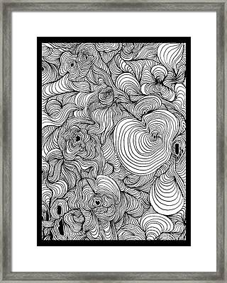 Psychedelic Swirls Optical Art Framed Print by Paul Telling
