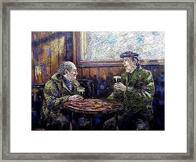 Pub Parlance Framed Print by John  Nolan