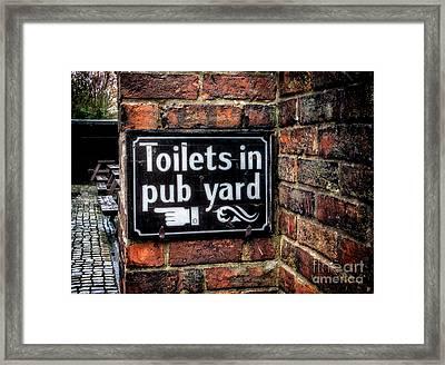 Pub Sign Framed Print by Adrian Evans