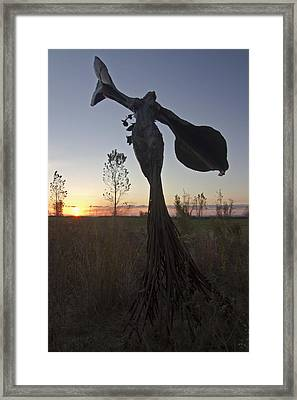 Public Art At Sun Rise Framed Print by Sven Brogren