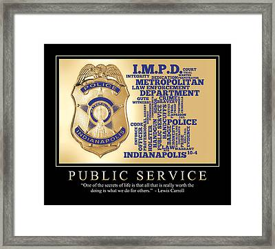 Public Service 1 Framed Print by Dave Lee