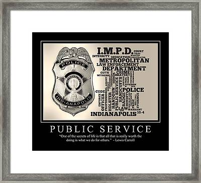 Public Service 2 Framed Print by Dave Lee