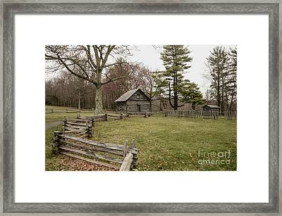 Puckett Cabin Framed Print by Jim Cook
