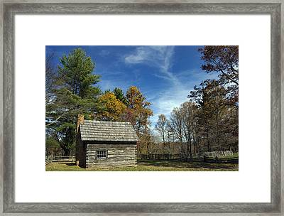 Puckett Cabin Va Framed Print by Skip Willits