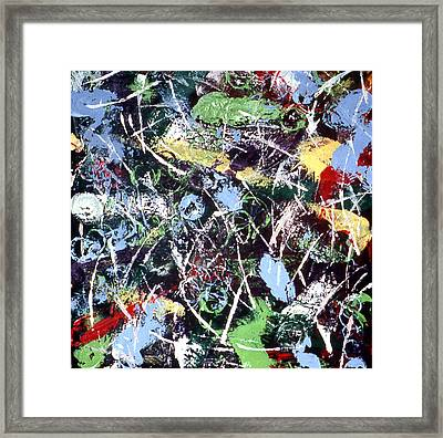 Pucks And Skate Blades Framed Print by Ken Yackel