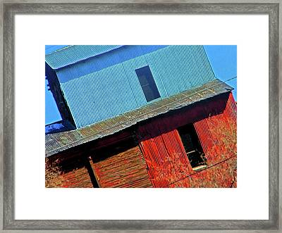 Pueblo Downtown--sweenys Feed Mill Framed Print by Lenore Senior