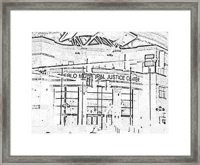 Pueblo Municipal Justice Center 2 Framed Print by Lenore Senior