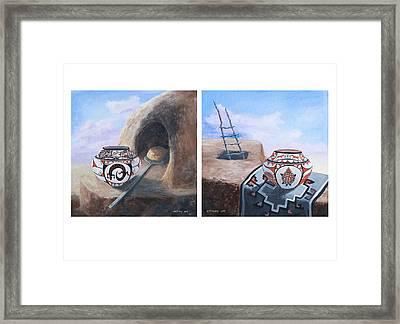 Pueblo Pots Framed Print by Jerry McElroy