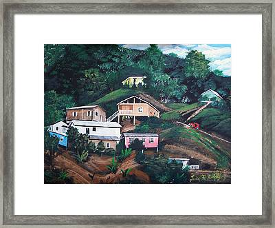 Puerto Rico Mountain View Framed Print by Luis F Rodriguez