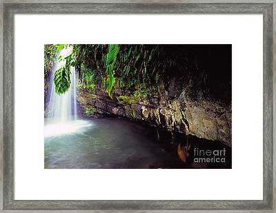 Puerto Rico Waterfall Framed Print by Thomas R Fletcher