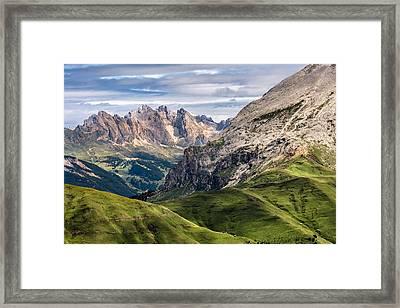 Puez Geisler Plattkofel Framed Print by Alexander Kunz