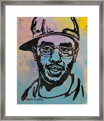 Puff Daddy Pop Stylised Art Poster Framed Print by Kim Wang