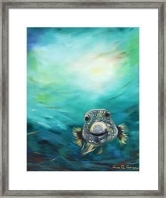Pufferfish Framed Print by Gina De Gorna